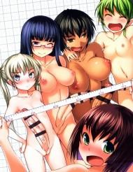 【ふたなり百合エロ漫画】まだ終わらない、ふたなりに青春を捧げる女の子達の物語・・・今度は身体測定!