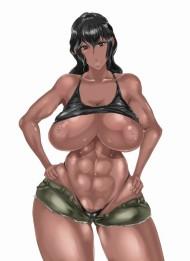 【エロ画像40枚】腹筋最高!筋肉質な女の子の画像貼っておきますねw【レベル1:褐色編3発目】